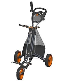 Carrito de golf - Plegado fácil - Carbón / Naranja - GCPro2-CO