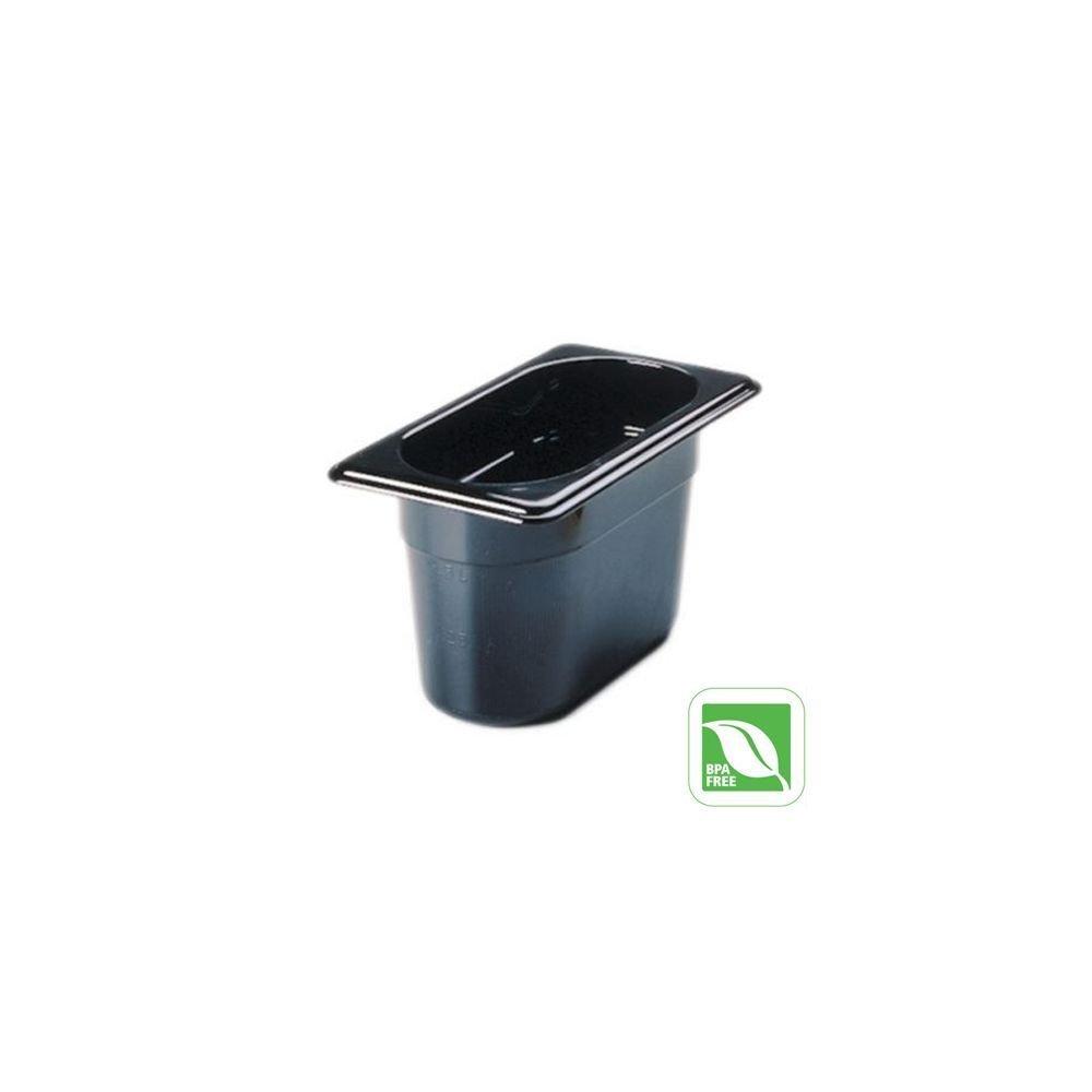 Rubbermaid Commercial Products Hot Food Pan, 1/9 Size, 7/8 Quart, Black (FG201P00BLA)