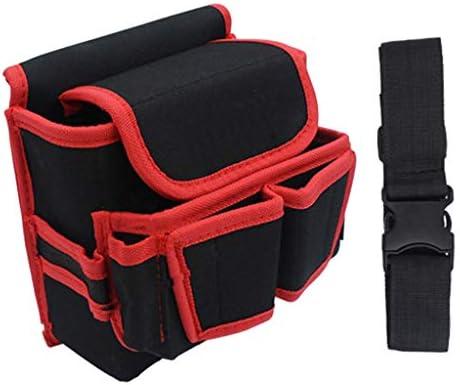 Fenteer ツールオーガナイザー ツールバッグ 木工ツール ウエストバッグ 全2色 - 赤