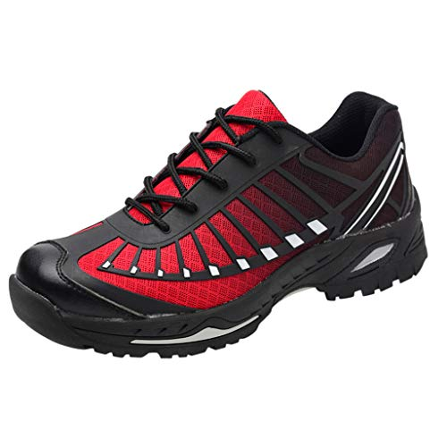 Safety Shoes for Men,Indestructible Steel Toe Shoes,Mitiy Breathable Lightweight Slip Resistant Puncture Proof Industrial Construction Work Shoes