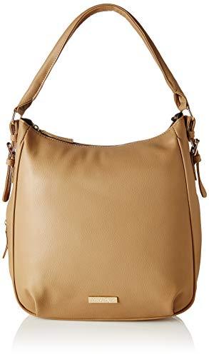 Lica Pezo Women Handbag (Beige) - Leather Open Top Tote