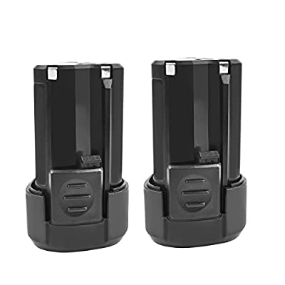 Turpow RW9300 Rockwell 12v 2.0Ah Lithium-Tech Battery Replacement for Rockwell RW9300 Lithium Tech Battery & WORX 12V WA3503 WA3504 WA3505 Cordless Tool Power Battery - 2 Pack