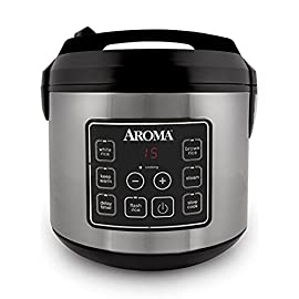 Aroma Housewares 20 Cup Cooked (10 cup uncooked) Digital Rice Cooker, Slow Cooker, Food Steamer, SS Exterior (ARC-150SB) 45