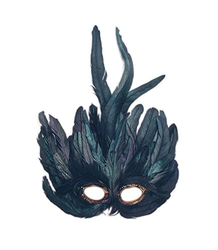 Bristol Novelty EM013 Feather Eye Mask, Black, One Size]()