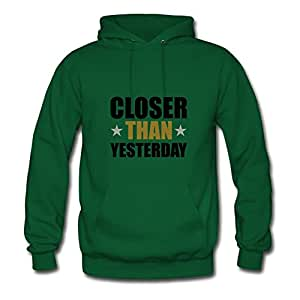 X-large Closer_than_yesterday Printed And Let You Handle It Custom Women Green Hoodies