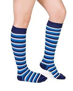 Nabee Socks Women's Hoppi Socks, Medium, Blue/Grey