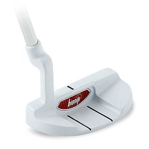 Bionik 105 Nano White Golf Putter Right Handed Semi Mallet Style with Alignment Line Up Hand Tool 40 Inches Monster Tall Putter Perfect for Lining up Your Putts (Semi Mallet Putter)