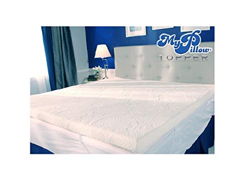 Pillow Mattress Cover - MyPillow My Pillow Three-inch Mattress Bed Topper (Queen)