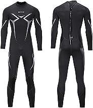 Men's Wetsuit One-Piece 3Mm Wetsuit Men's Jumpsuit Wetsuit Cold Water Swimming Diving Surfing Winter