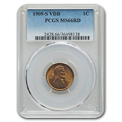 1909 S VDB Lincoln Cent MS-66 PCGS (Red) Cent MS-66 -