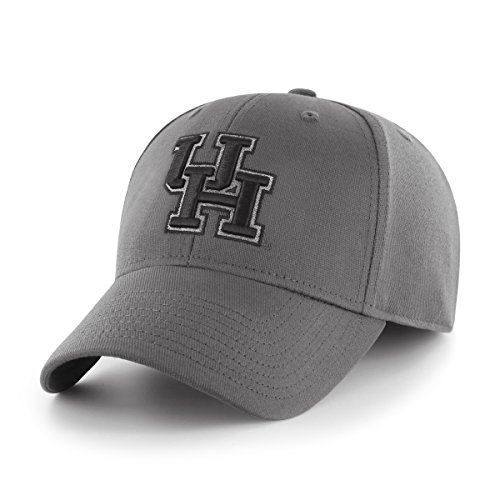 OTS NCAA Houston Cougars Comer Center Stretch Fit Hat, Charcoal, (University Of Houston Logo)