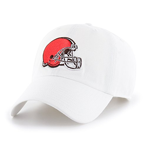OTS NFL Cleveland Browns Male Challenger Adjustable Hat, White, One Size
