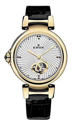 Edox Women's 85025 37RC AIR LaPassion Analog Display Swiss Automatic Black Watch