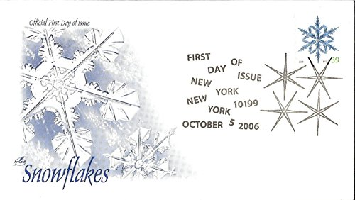 First Day Cover 2006 Snowflakes 39 Cent Snowflake Postage Stamp Sc# 4101