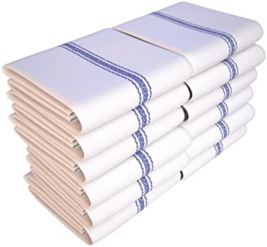 Keeble Outlets One Dozen (12) Kitchen Dish Towels - White - High Quality,  Low Lint, Professional Grade 24 oz., 100% Cotton Tea Towel With Herringbone  ...