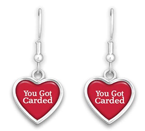 FTH Louisville Cardinals Heart Slogan Earrings ...