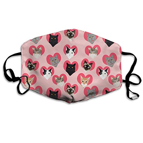 Dust Face Mask for Dust Mouth Mask,Val Cats Pink Anti-Dust Mask Adjustable Earloop Face Mask -