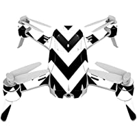 Skin For Yuneec Breeze 4K Drone – Black Chevron | MightySkins Protective, Durable, and Unique Vinyl Decal wrap cover | Easy To Apply, Remove, and Change Styles | Made in the USA