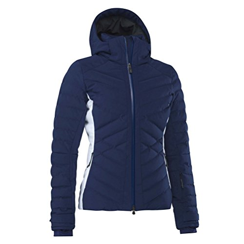MOUNTAIN FORCE Ava Down Colorblock Womens Insulated Ski Jacket - 6/Medieval Blue-White