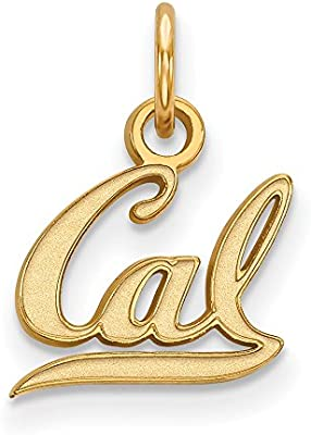 Solid 925 Sterling Silver University of California Berkeley Extra Small Pendant 11mm x 15.5mm