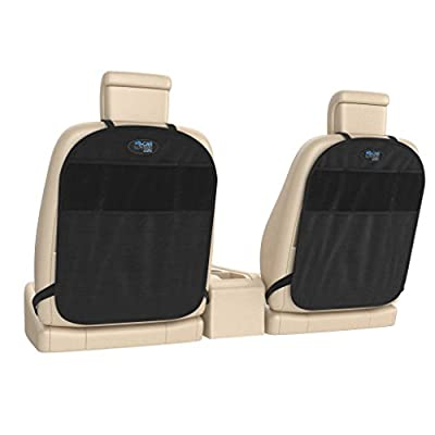 Kick Mat and Back Seat Storage 24 x 17 inch (Pack of 2) - Car Lovers Care. Protect Your Seats from Dirt, Mud and Scratches. Premium Quality, Universal Fit, Non-Absorbent and Easy to Install.