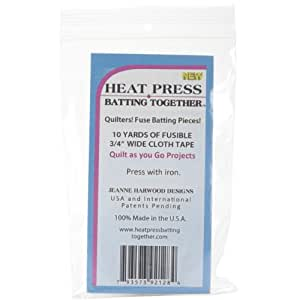 Heat Press Batting HP3/4 Together, 3/4-Inch by 10-Yard, White