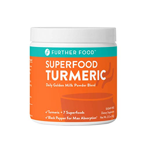 Turmeric Golden Milk Organic Turmeric Latte Powder, Anti-Inflammatory Cinnamon Ginger & Black Pepper Maximum Absorption, Joint Pain + Gut Health, Sugar-Free, Vegan, Keto Mix (30 Servings)