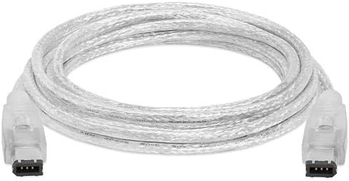 10Feet CLEAR IEEE-1394 FireWire iLink DV Cable 6P-6P M//M