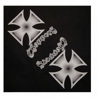 Bikers & Maltese Cross Bandana for Chopper Riders (Maltese Chopper)