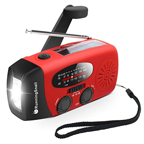 [Upgraded Version] RunningSnail Emergency Hand Crank Self Powered AM/FM NOAA