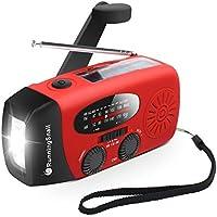 Upgraded Version RunningSnail Emergency Hand Crank Self Powered AM/FM NOAA Solar Weather Radio with LED Flashlight,...