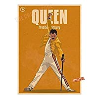 Tradico® Queen Rock Band Vintage Posters Home Living Decorative Painting Poster Retro Poster