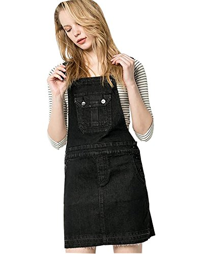 2017 nuevo vestido de mezclilla vestido delgado Black