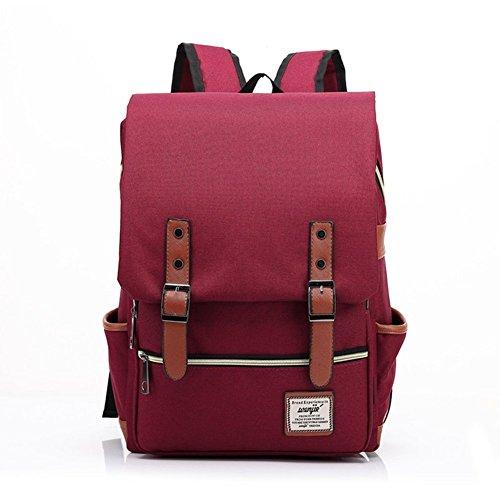 Haifly - Bolso mochila  para mujer borgoña borgoña