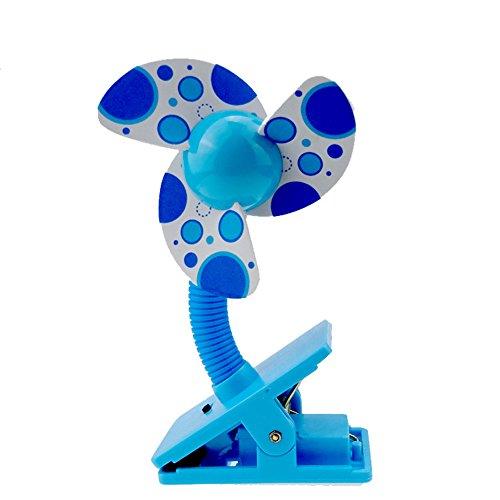 Clip On Fan Baby Stroller Mini Fan with USB Portable Table Fan Crib Car Seat Handheld Small Fan Desk Fan Home Travel Office Fans Powered by Battery USB by Finebaby
