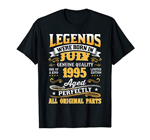 Legend Born July 1995 Shirt 24th Birthday 24 Year Old Gift