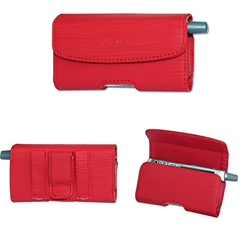 Cingular Leather (Red Horizontal Leather Case for AT&T Alcatel Cingular Flip 2)