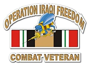 "US Navy Seabees Operation Iraqi Freedom Combat Veteran Decal Sticker 10"" by Vinyl USA"