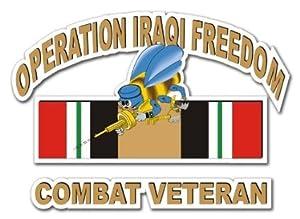 "US Navy Seabees Operation Iraqi Freedom Combat Veteran Decal Sticker 10"" by Vinyl USA"