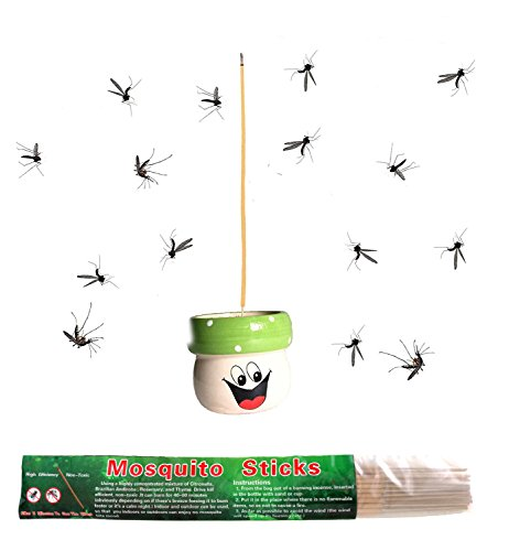 Henslow Mosquito Sticks That Kills Mosquitoes Quickly. You Can See The Effect in Eight Minutes. Let You Indoors or Outdoors Can Enjoy no Mosquito Bite Mood. (30 PCS)