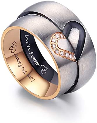 LAVUMO Matching Stainless Engagement Anniversary