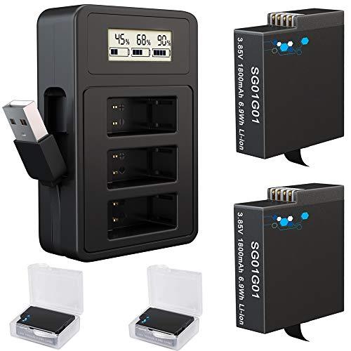 Baterías de repuesto para GoPro Hero y cargador rápido USB