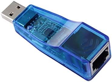 Heaviesk Adaptador de Tarjeta de Red USB a Ethernet RJ45 de LAN Externo Unidad Libre 10 / 100Mbps para PC portátil Adaptador de LAN de Tarjeta de Red ...