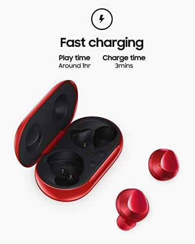 Samsung Galaxy Buds Plus, Auriculares inalámbricos con batería Mejorada y Calidad de Llamada (Estuche de Carga inalámbrica Incluido), Rojo - versión para EE. UU. 8