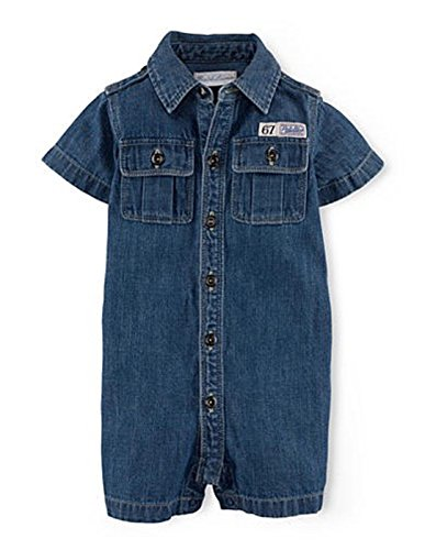 Ralph Lauren Baby Boys' Short Sleeve Denim Boiler Suit (6 (Childs Boiler Suit)