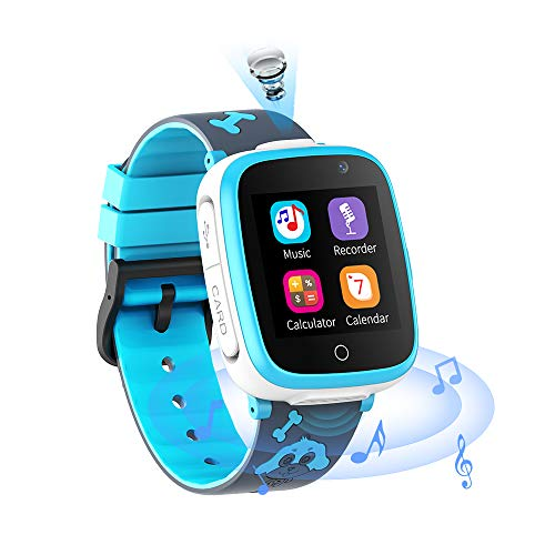 Smartwatch for Kids - Music Game Player Smart Watch with 2 Camara 6 Game Alarm Clock Two Way Call Calendar SOS 1.54 HD Touch Screen for 3-14Year Boys Girls Birthday Gift
