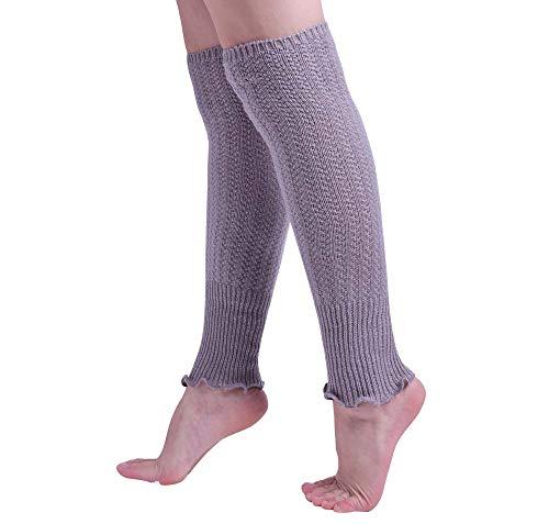 Nanxson Women Girls Knitted Crotched Leg Warmer Stocking with Falbala Opening (light (Best Nanxson Winter Boots)