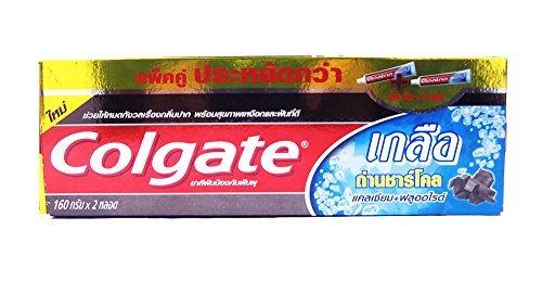 Colgate Salt Charcoal Czlclum + Fluoride Toothpaste, Salt Healthy, Toothpaste- Herbal, 160g X2 Tubes