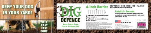 Dig Defence 24 Count Bulk Deep Hole Blocker, 4-Inch (Fence Defence)
