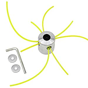 SWNKDG Cuerda de Aluminio Cabeza cortadora de césped Cabeza Doble ...